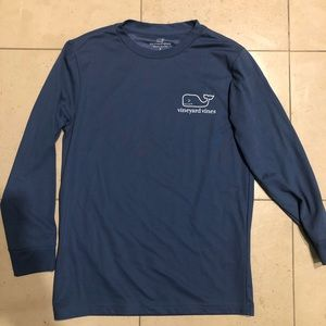 Boys Vineyard Vines Blue Long Sleeve Shirt